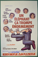 Un Elephant Ca Trompe Enormement <p><i> (Original Belgian Movie Poster) </i></p>